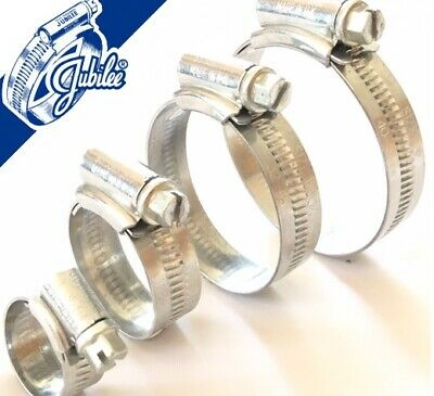 Genuine Jubilee Hose Clips Worm Drive Hose Clamps Fuel Pipe Clips Mild Steel