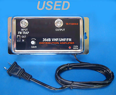 36Db Cable Tv Antenna Inline Booster Coax Signal Amplifier With Gain Control