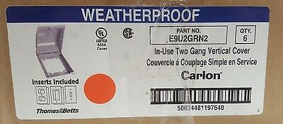 NEW Carlon E9U2GRN2 In-Use Standard 2-Gang Grey Weatherproof Cover **Lot of 6**