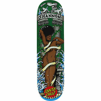 "SANTA CRUZ Skateboard Deck SHANNON AFRODITE 8.0"" FREE GRIP & POST New"