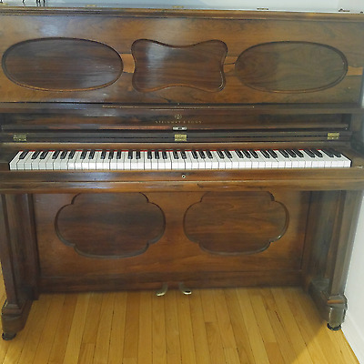 RARE Antique Steinway & Sons piano Upright serial #16233 Made in 1866