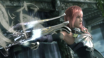 """Final fantasy XIII-2 13-2 Lightning Claire Farron Japanese Anime poster 41"""" x24"""""""