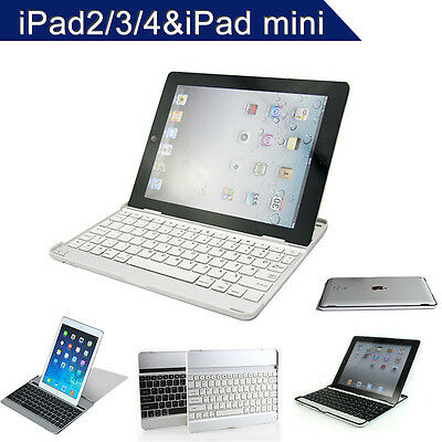 iPad Mini Keyboard Aluminum  Dock For iPad 2 3 4 Bluetooth Wireless