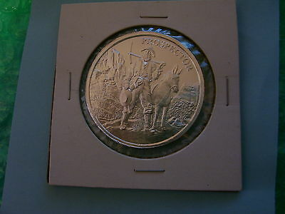 Prospector 1 Troy Oz .999 Fine Silver Round Mule Mule and Gold Pan :
