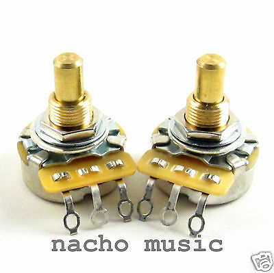 Set of 2 CTS 450G 250K 10% Solid Shaft Guitar Pot / Potentiometer
