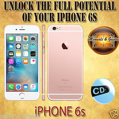 APPLE iPHONE 6s FULL USER GUIDE INSTRUCTION MANUAL/VIDEO TUTORIAL & TIPS iOS CD
