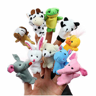 10Pcs Finger Puppets Cloth Plush Doll Baby Educational Hand Cartoon Animal Toy