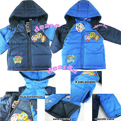Paw Patrol marhsall boys kids thick winter coat jacket outfit hoodie size 2-5