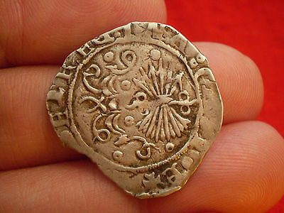 Columbus Era 1474-1504 Spain Granada One Reales King Ferdinand & Queen Isabella