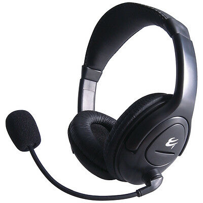 PC Headset with Boom Microphone Headphones Computer Mic