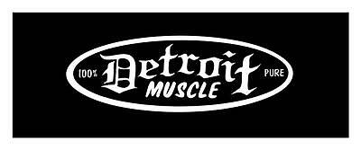 Pure Detroit Muscle 4X9 Hot Rod- Rat Rod Muscle Car Truck Window Sticker Decal