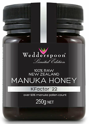 Wedderspoon RAW Manuka Honey KFactor 22+ - 250g