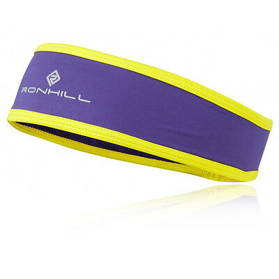 Ronhill Stretch Mens Womens Yellow Purple Powerlite Running Warm Headband