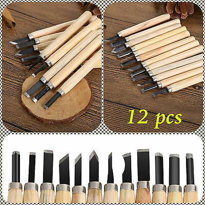 12 PCS Knife Woodcut DIY Tools for Carving Wood Hand Wood Carving Chisels Tool