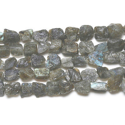Strand Of 20+ Grey Labradorite Approx 15 x 20mm Rough Nugget Beads GS5605