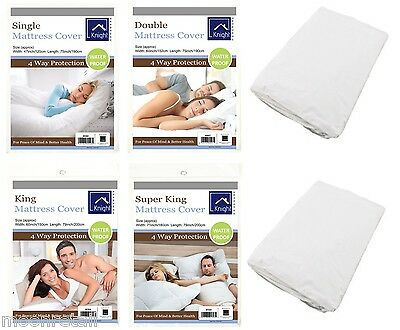 Deluxe Mattress Cover Protector Waterproof Fitted Bed Sheet Wetting Topper