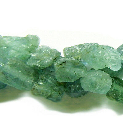 Strand Of 40+ Teal Blue Apatite Approx 6 x 8mm Rough Nugget Beads GS8513
