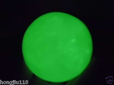 60MM Natural White Fluorite Crystal Sphere Glow In The Dark Stone
