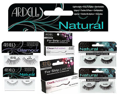 Ardell 100% Human Hair False Eyelashes Fashion/Glamour/Natural Lashes/Adhesive