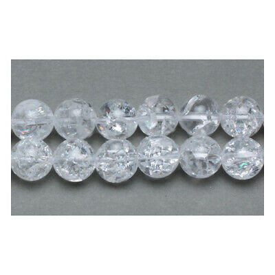 Strand Of 38+ Clear Rock Crystal Quartz 10mm Plain Round Beads GS11044-2