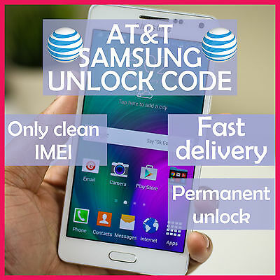 AT&T Samsung FACTORY UNLOCK CODE SERVICE Galaxy S3 S4 S5 S6 S8 S9 S10 Notes