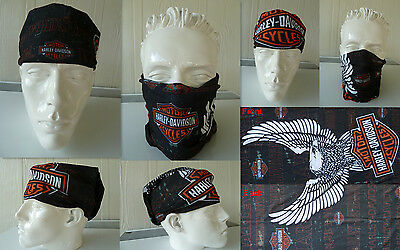 Head/Face/Mask/Neck Multi-wear tube Bandana/Durag.SPF5,Biker/wrap. Eagle. scarf