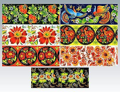 Ukrainian Easter Egg Wraps,Pysanka,Flowers Egg Heat Shrink Sleeves,7 Hen S36