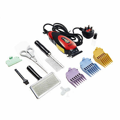 Red Hair Clippers Scissors&Shears Trimmer Razor Grooming Set Kit For Pet Dog Cat