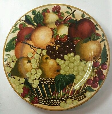 "Block China ""country Orchard"" 12"" Chop Plate/round Platter - Excellent"