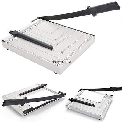 "12"" Manual Guillotine Paper Cutter Trimmer Machine Heavy Duty A4 Commercial Home"