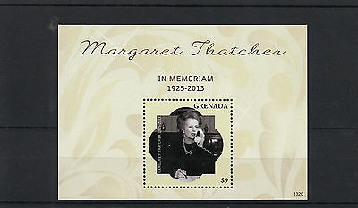 Grenada 2013 MNH Margaret Thatcher In Memoriam 1v S/S Death Lady