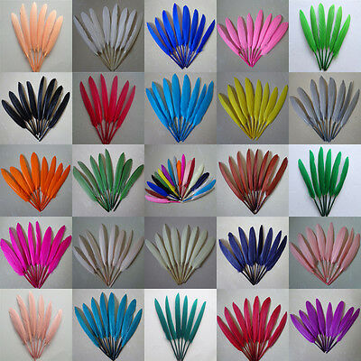 Wholesale 20/50/100 PCS beautiful goose feather 4- 6 inches 10-15 cm More color