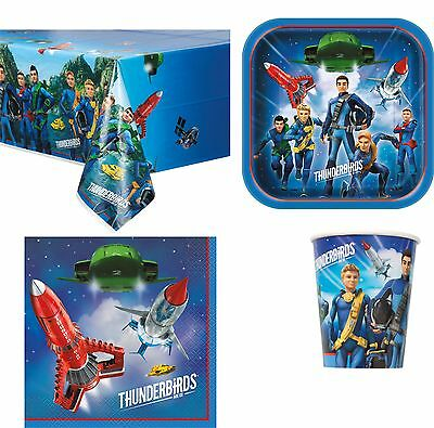 Thunderbirds Are Go Birthday Party Tableware Napkins Plates Cups Tablecover