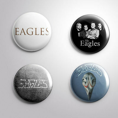 4 THE EAGLES -  Pinbacks Badge Button 25mm 1''