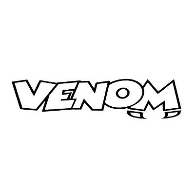 Venom Merchandise Logo 85mm x 85mm Label VENSTK-0016