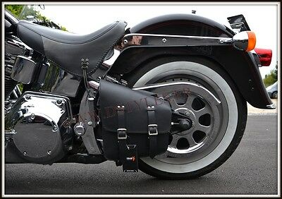 Seitentasche Single Modell Schwarz { Harley Softail Fatboy Breakout VN Fett -