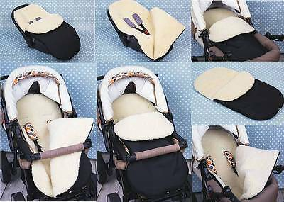 Universal Footmuff Fits for MAMAS&PAPAS. All Models . Ecological wool..