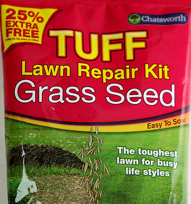 Tuff Lawn Grass Seed Repair Kit 150g Covers Up to 8 Square Meter Easy to Use