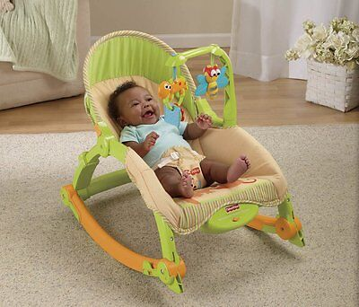 Portable Infant Baby Swing Rocker Seat Cradle Rest Sleeper Kid Convertible NEW
