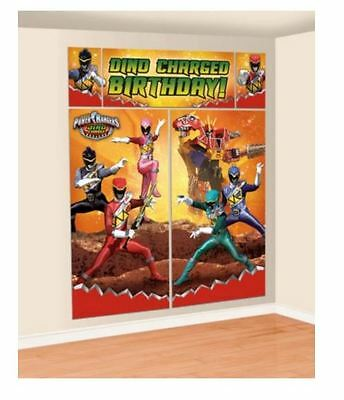 Power Rangers Dino Charge Birthday Party Scene Setter, 5 Banners, Over 6ft Tall