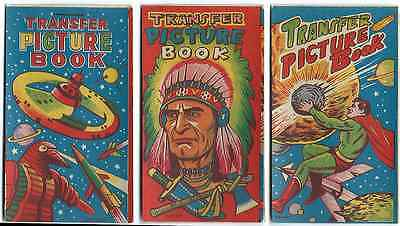 Vintage Transfer Picture Book Tattoos Unused Set 1950s Toy Dime Store Dead Stock