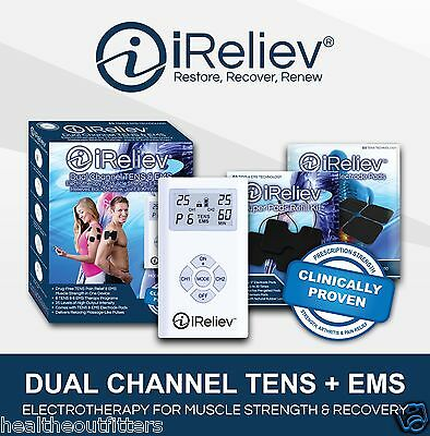 iReliev ET-7070 TENS + EMS Strength & Recovery System:Comes with Small & XL Pads