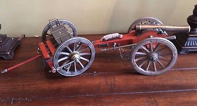Civil War Brass Barrel Cannon with Limber, 1/14 Detailed Scale Model NEW
