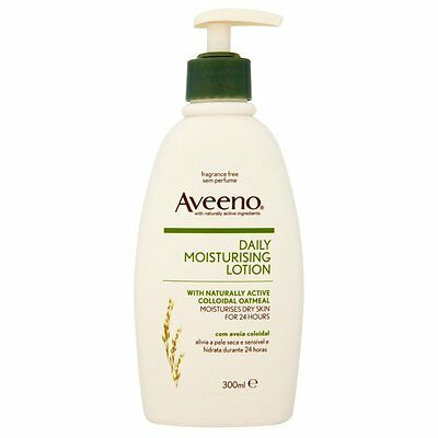 Aveeno Daily Moisturising Lotion 300ml For Dry Skin Clinically Proven Formula