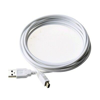Hot Sale 3M White USB Charger Cable For Nintendo Wii U WIIU Gamepad Controller