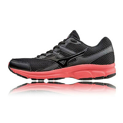 Mizuno Spark Womens Black Cushioned Running Road Sports Shoes Trainers