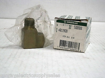 "Greenlee 4019GB 3/8"" Street Elbow Part# 905-0808.4  New in Box"