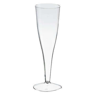 Einweg Champagnerglas Sektglas 100ml PS 2 tlg. Transparent glasklar Party BBQ