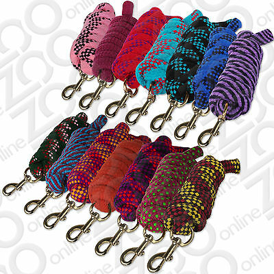 Heavy Duty Knitted Horse / Pony Lead Rope With Trigger Clip Snap Hook - 2 Metre