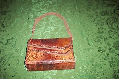 VINTAGE  Croc Alligator BAG CIRCA 1950'S GERMANY VG CONDITION NO RESERVE